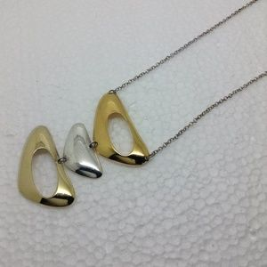 """Sterling silver, gold tone 18"""" necklace"""
